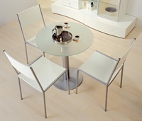 """Picture of 27""""D Round Contemporary Glass Conference Meeting Dining Table"""
