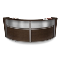 Picture of OFM 55312 Reception Desk Workstation, Marque Laminate Double Reception Desk