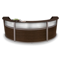Picture of OFM 55313 Reception Desk Workstation, Marque Laminate Triple Reception Desk