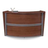 Picture of OFM 55290 Reception Desk Workstation, Marque Laminate Reception Desk