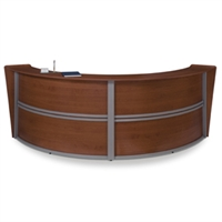 Picture of OFM 55292 Reception Desk Workstation, Marque Laminate Double Reception Desk