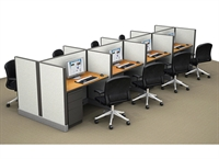 Picture of Cluster of 8, 2' x 4' Electrified Telemarketing Office Cubicle Workstation
