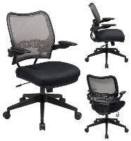 Picture of Office Star 13-38N1P3 Mid Back AirGrid Mesh Task Chair with Cantilever Arms