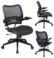 Picture of Office Star 13-77N1P3 Mid Back Mesh AirGrid Ergonomic Task Chair, Cantilever Arms