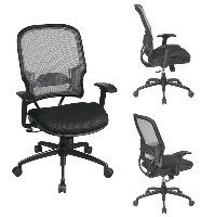 Picture of Office Star 15-NXM32Y318P Mid Back Mesh Chair, Lumbar with Gunmetal Base