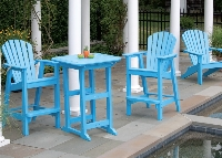 Picture of Seaside Adirondack Outdoor Cafe Dining Bar Chair