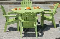 Picture of Seaside Adirondack Outdoor Cafe Dining Shell Side Chair