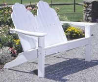Picture of Seaside Adirondack Outdoor Shell Dining Two Seat Loveseat Chair