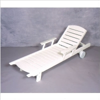 Picture of Seaside Kingston Outdoor Polymer Chaise Lounge on Casters with Folding Arms