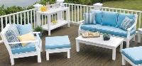 Picture of Seaside Nantucket Outdoor Polymer Three Seat Sofa