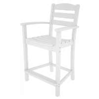 Picture of Polywood La Casa TD201, Recycled Plastic Outdoor Cafe Dining Counter Chair