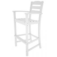 Picture of Polywood La Casa TD202, Recycled Plastic Outdoor Cafe Dining Barstool Chair