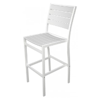 Picture of Polywood Euro A102, Recycled Plastic Outdoor Cafe Dining Barstool Chair