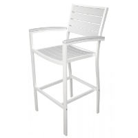 Picture of Polywood Euro A202, Recycled Plastic Outdoor Cafe Dining Barstool Chair