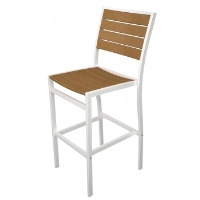 Picture of Polywood Euro A102, Recycled Plastic Outdoor Dining Barstool Chair
