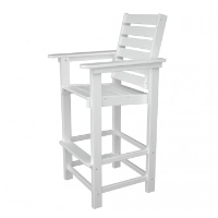 Picture of Polywood Captain CCB30, Recycled Plastic Outdoor Cafe Dining Barstool Chair