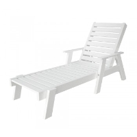 Picture of Polywood Captain AC2678, Recycled Plastic Outdoor Chaise Lounge with Arms