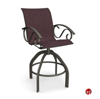 Picture of Homecrest Kensington II 40480, Outdoor Steel Sling Swivel Barstool