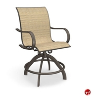 Picture of Homecrest Holly Hill 2A780 Outdoor Aluminum Sling Swivel Rocker Balcony Stool