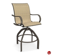 Picture of Homecrest Holly Hill 2A480 Outdoor Aluminum Sling Cafe Swivel Barstool