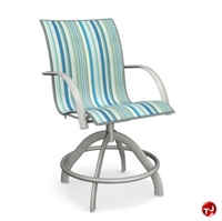 Picture of Homecrest Florida 3J580, Outdoor Aluminum Sling Swivel Balcony Stool
