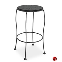 Picture of Homecrest Espresso 90240, Outdoor Steel Cafe Barstool