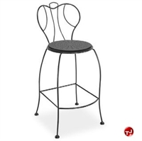 Picture of Homecrest Espresso 90250, Outdoor Steel Cafe Barstool