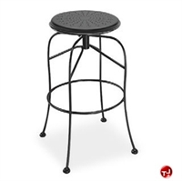 Picture of Homecrest Espresso 91240, Outdoor Steel Cafe Swivel Barstool