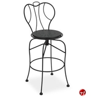 Picture of Homecrest Espresso 91250, Outdoor Steel Cafe Swivel Barstool