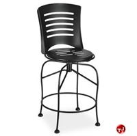 Picture of Homecrest Latte 93252, Outdoor Steel Balcony Swivel Stool