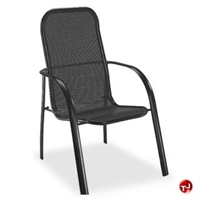 Picture of Homecrest Florida Mesh 2F370, Outdoor Aluminum Cafe Stackable Chair