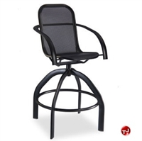 Picture of Homecrest Florida Mesh 2F480, Outdoor Aluminum Cafe Swivel Barstool