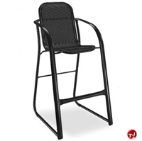 Picture of Homecrest Florida Mesh 2F240, Outdoor Aluminum Cafe Dining Barstool