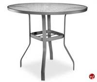"Picture of Homecrest 0149501, Outdoor Glass with Aluminum 48"" Round Bar Table with Hole"