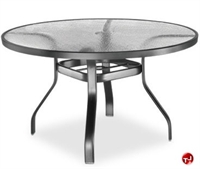 "Picture of Homecrest 1149501, Outdoor Glass with Aluminum 48"" Round Dining Table with Hole"