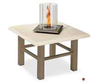"Picture of Homecrest Midtown Venturi Flame 5724FP, Outdoor Firepit, 24"" Square Table"