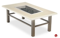 Picture of Homecrest Midtown Venturi Flame 5574FP, Outdoor Firepit with Faux Granite Table
