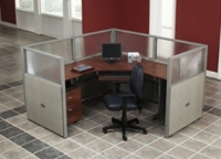 Picture of OFM Rize R1X1-4760-P, L Shape Office Desk Cubicle Workstation