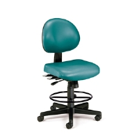 Picture of OFM 241-VAM-DK, 24 Hour Armless Vinyl Task Chair, Drafting Stool