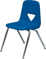 Picture of Scholar Craft 120 Series, 123 Poly Plastic Armless Classroom Stacking Chair