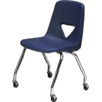 Picture of Scholar Craft 120 Series, 127-C Poly Plastic Mobile Armless Classroom Chair