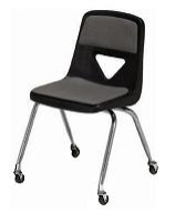Picture of Scholar Craft 120 Series, 127-PC Poly Plastic Mobile Classroom Mobile Chair