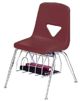 Picture of Scholar Craft 120 Series, 123-BB Poly Plastic Classroom Chair, Book Basket