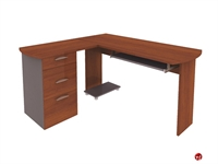 Picture of Bestar Capri 82420, 82420-58, L Shape Laminate Computer Desk Workstation