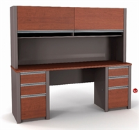 Picture of Bestar Connexion 93860,93860-68 Contemporary Credenza Storage Desk Workstation