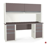 Picture of Bestar Connexion 93860,93860-59 Contemporary Credenza Storage Desk Workstation