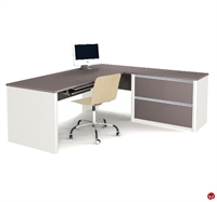 Picture of Bestar Connexion 93862,93862-59 Contemporary L Shape Computer Desk Workstation