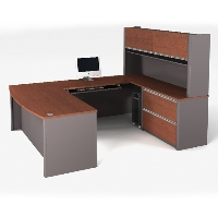 Picture of Bestar Connexion 93863,93863-39 Contemporary U Shape Computer Desk Workstation