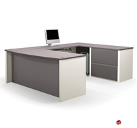 Picture of Bestar Connexion 93865,93865-59 Contemporary U Shape Computer Desk Workstation