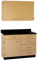 "Picture of 36""W Cabinetry Suite SA016, Two Door Wall Unit, Base Unit with Countertop"